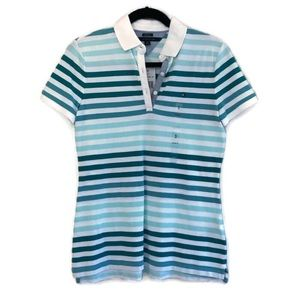 Tommy Hilfiger | Turquoise Ombré Stripe Polo